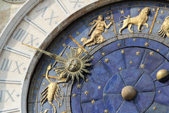 Astronomical Clock in Venice, St. Mark's Square Stock Images