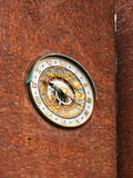 Astronomical clock on wall City Hall - Oslo Norway. Astronomical clock on wall City Hall Radhuset - Oslo Norway stock photo