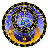 Astronomical clock - zodiac royalty free illustration