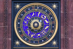 Astronomical Clock. With Zodiac Signs in London royalty free stock photography