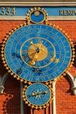 Astronomical clocks in Riga, Latvia stock photos