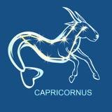 Astronomical constellation Capricornus. Astronomical constellation and astrological zodiac symbol of Capricornus. Flat  illustration Stock Photography