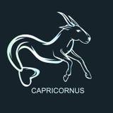 Astronomical constellation Capricornus. Astronomical constellation and astrological zodiac symbol of Capricornus. Flat  illustration Stock Images