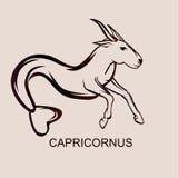 Astronomical constellation Capricornus. Astronomical constellation and astrological zodiac symbol of Capricornus. Flat  illustration Stock Photos