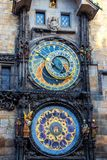 Astronomical dial of the Prague Astronomical Clock royalty free stock images