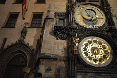 Prague, Czech Republic. Prague Astronomical Clock or Orloj stock image