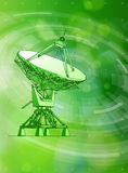 Astronomical Doppler radar, radial HUD elements Royalty Free Stock Photos