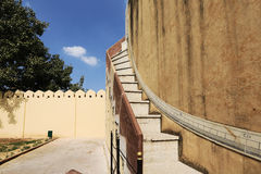 Astronomical instruments at Jantar Mantar observatory, Jaipur Stock Photo