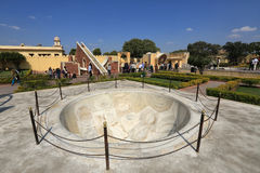 Astronomical instruments at Jantar Mantar observatory, Jaipur Royalty Free Stock Images