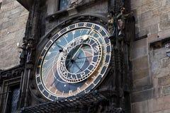 astronomical klocka berömda medeltida gammala prague Royaltyfria Bilder