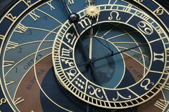 astronomical klocka gammala prague Royaltyfri Bild
