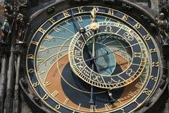 astronomical klocka gammala prague Arkivfoton