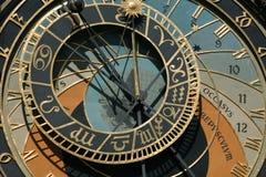 astronomical klocka prague Arkivbild