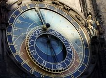 astronomical klocka prague Arkivfoto