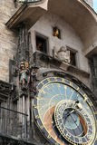 astronomical klocka prague royaltyfria bilder
