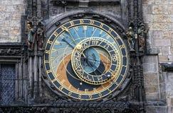 astronomical klocka prague praha Arkivbild