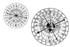 Astronomical klocka - vektor Arkivfoton