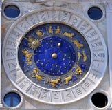 astronomical klocka venice Arkivbilder