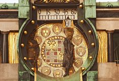 astronomical klocka vienna Royaltyfri Foto
