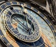 astronomical klockadeta prague Royaltyfri Bild