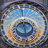 astronomical klockaprague fyrkant Arkivbilder
