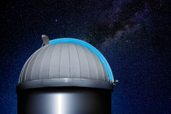 Astronomical observatory dome night sky Royalty Free Stock Images