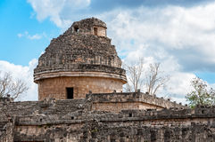 Astronomical observatory El Caracol in Chichen Itza, Mexico stock photos