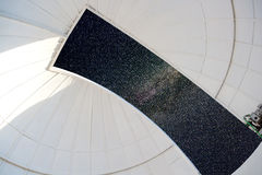 Astronomical observatory indoor white dome Stock Images