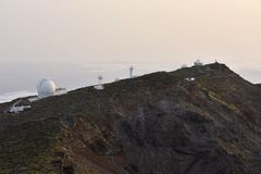 Astronomical observatory La Palma Canary Islands stock image