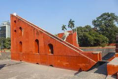 Astronomical observatory Jantar Mantar in Delhi royalty free stock photography