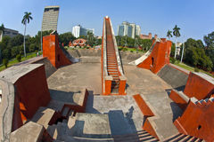 Astronomical observatory Jantar Mantar in Delhi Stock Images