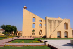 Astronomical Observatory Jantar Mantar in Jaipur, Rajasthan, Ind Royalty Free Stock Photography