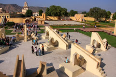 Astronomical Observatory Jantar Mantar in Jaipur, Rajasthan, Ind Royalty Free Stock Photo