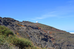 Astronomical observatory located.National Park.La Palma Island Royalty Free Stock Photo