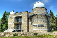 An astronomical observatory on Lubomir mountain Stock Photos