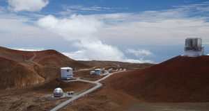Astronomical observatory on mauna kea Royalty Free Stock Photos