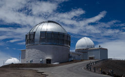 Astronomical observatory on mauna kea Stock Image