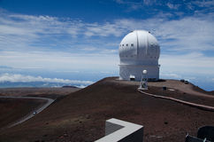 Astronomical observatory on mauna kea Stock Photo