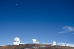 Astronomical observatory on mauna kea Royalty Free Stock Images