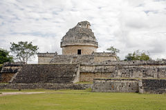 Astronomical observatory in Mayan ruins. Astronomical observatory in chichenitza of Mayan ruins in Mexico stock image