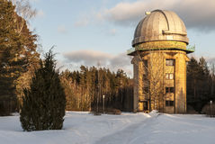 Observatory. Astronomical observatory in Moletai, Lithuania stock images