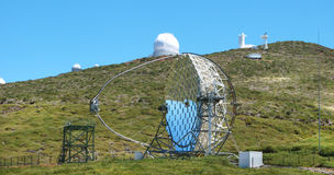 Astronomical observatory in Roque de los Muchachos. La Palma. Sp Royalty Free Stock Photos