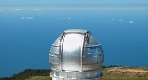 Astronomical observatory in Roque de los Muchachos. La Palma. Sp Royalty Free Stock Images
