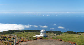 Astronomical observatory in Roque de los Muchachos. La Palma. Sp Stock Photo