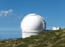 Astronomical observatory in Roque de los Muchachos. La Palma. Sp Stock Photos