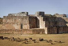 Astronomical Observatory, ruins of of Monte Alban - Oaxaca, Mexi. Astronomical Observatory. Ruins of of Monte Alban  pre-Columbian archaeological site - Oaxaca Stock Photos