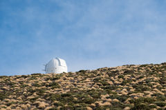 Astronomical observatory station  buildings on mountain Stock Image