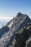 Astronomical observatory on summit of Lomnica in Slovakia royalty free stock photos