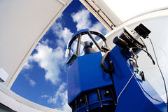 Astronomical observatory telescope indoor Stock Photo