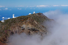 Astronomical observatory at the top of the island stock image